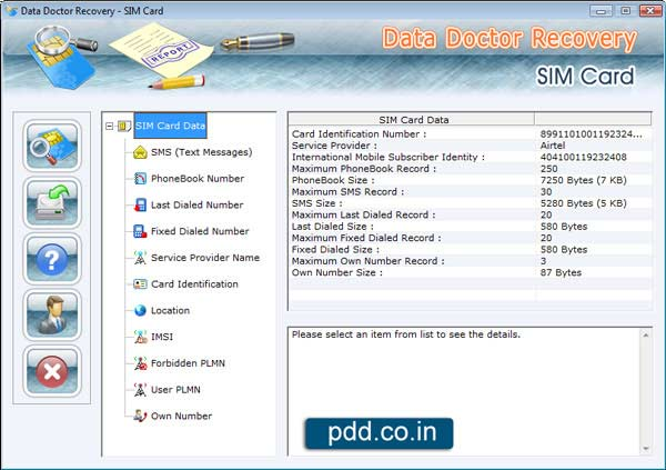 Recover Deleted Sim files via utility