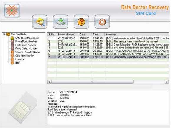 Sim Card Recovery screen shot